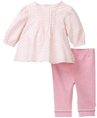 Offspring Pink Print Woven Tunic & Legging Set (Baby Girls)