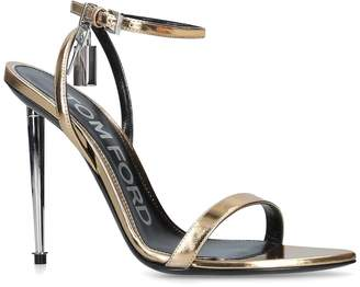 Tom Ford Leather Lock Ankle Sandals 105