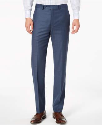 Calvin Klein Men's Slim-Fit Stretch Blue Neat Suit Pants