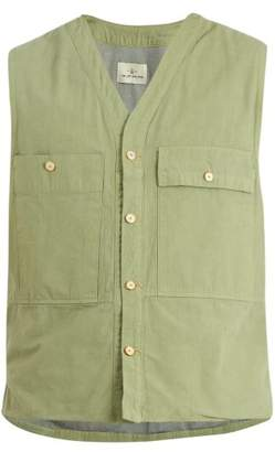 The Lost Explorer - Agouti Patch Pocket Cotton Gilet - Mens - Green