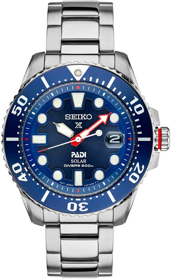 SeikoSeiko Men's Prospex Solar PADI-Edition Stainless Steel Bracelet Watch 44mm SNE435