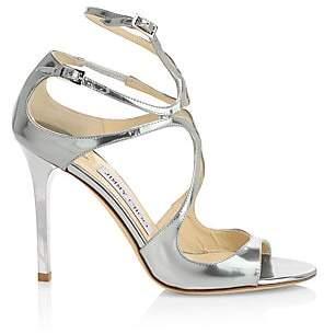 Jimmy Choo Women's Lang Liquid Mirror Leather Sandals