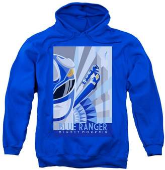 Power Rangers Mens Blue Ranger Deco Pullover Hoodie