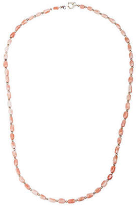 One Kings Lane Vintage 14K Gold & Pink Coral Bead Necklace - Treasure Trove NYC