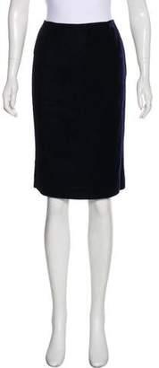 Paule Ka Velvet Knee-Length Skirt