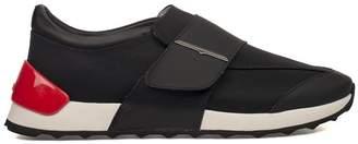 Alberto Guardiani Black Onesoul Leather Slip On Sneakers