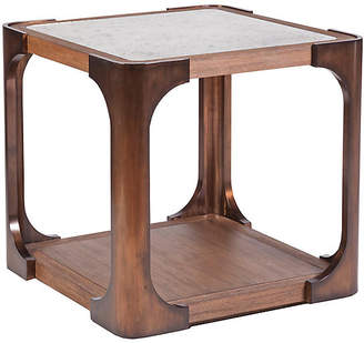 Artistica Tuco Side Table - Mahogany/Brass