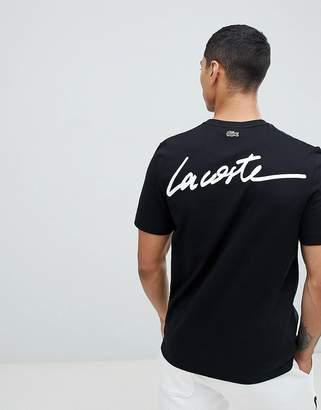 Lacoste Live L!VE script logo t-shirt in black
