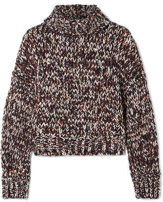 Brunello Cucinelli Sequined Chenille Turtleneck Sweater - Navy
