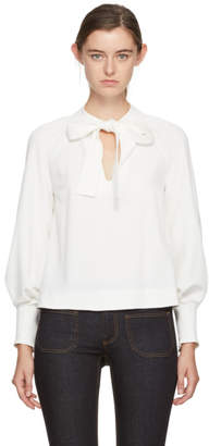 See by Chloe White Bow Blouse