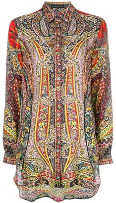 Etro mixed paisley print shirt