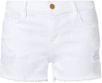 Frame Le Cut Off White Shorts
