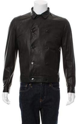 Simon Spurr Double-Breasted Leather Jacket