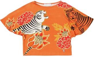 Roberto Cavalli Printed Viscose T-shirt