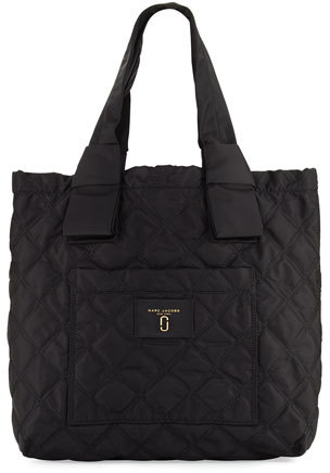 Marc JacobsMarc Jacobs Quilted Nylon Knot Tote Bag, Black