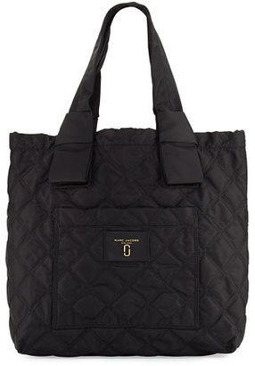 Marc Jacobs Quilted Nylon Knot Tote Bag, Black $225 thestylecure.com
