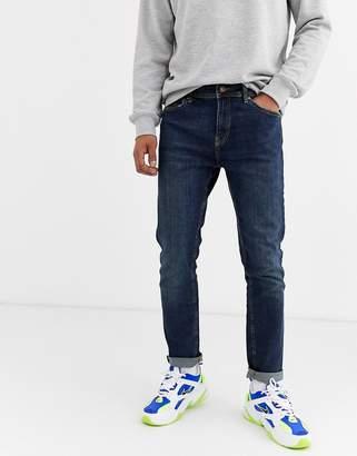 Bershka Skinny Jeans In Mid Blue