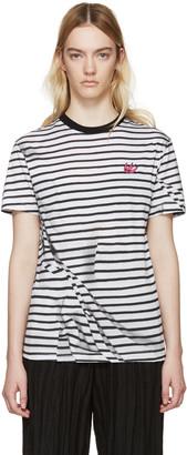 McQ Alexander Mcqueen Black & White Distort T-Shirt $210 thestylecure.com