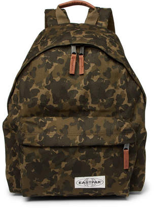 Eastpak Padded Pak'r Camouflage-Print Canvas Backpack - Green