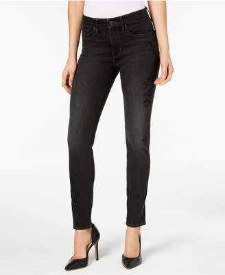 Levi's 721 High-Rise Skinny Embroidered Jeans