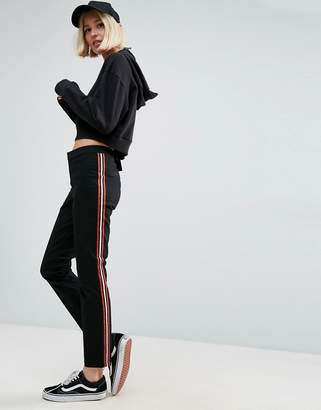 Asos Cigarette Trousers With Side Stripe
