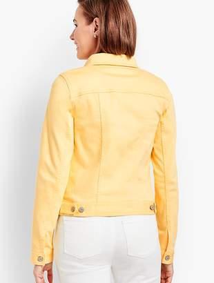 Talbots Classic Denim Jacket - Ruffle-Front