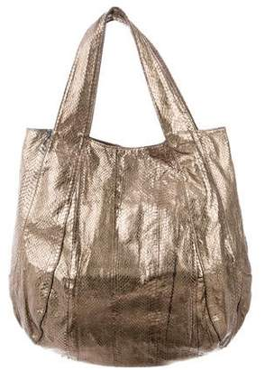 Beirn Metallic Leather Handbag