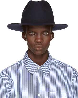 A.P.C. Navy Fishing Fedora $200 thestylecure.com