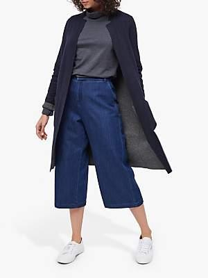 White Stuff Reversible Wool Blend Coat, Navy/Grey