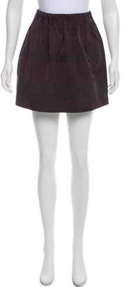 Brunello Cucinelli Striped Mini Skirt