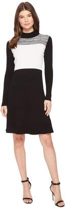 Calvin Klein Long Sleeve Space Dyed Sweater Dress Women's Dress