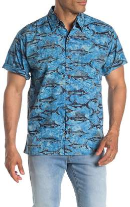 Sword Fish Pete Huntington Swordfish Print Camp Shirt
