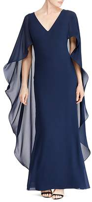 Lauren Ralph Lauren Ruffled Cape Gown - 100% Exclusive