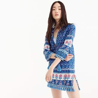 J.Crew Cotton voile tunic in floral block print