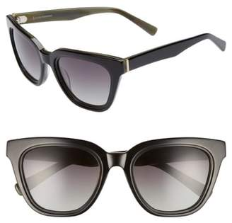 ED Ellen Degeneres 54mm Rectangular Cat Eye Sunglasses