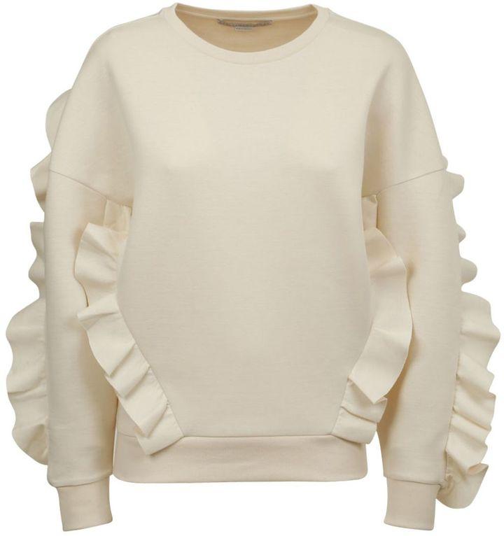 Stella Mccartney Ruffle-trimmed Sweatshirt