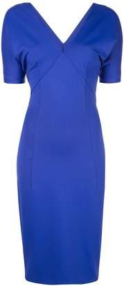 Haider Ackermann V-neck fitted dress