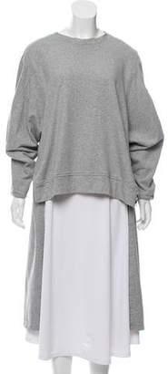 Y-3 High-Low Knit Sweatshirt