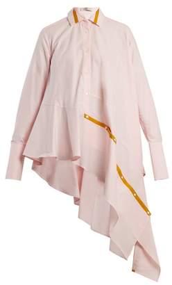 Palmer Harding Palmer//Harding Palmer//harding - Spicy Deconstructed Asymmetric Cotton Shirt - Womens - Light Pink