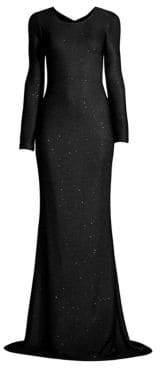 St. John Links Sequin Knit Gown