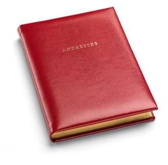 Aspinal of London Lizard Print Large Address Book