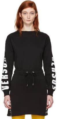 Versus Black Mesh Logo Sweatshirt