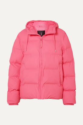 Rains Hooded Quilted Matte-pu Jacket - Pink
