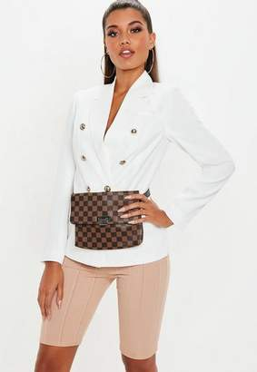 Missguided White Military Blazer