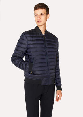 Paul Smith Men's Navy Down-Filled Bomber Jacket