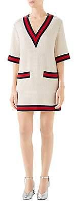 Gucci Women's Tweed V-Neck Top