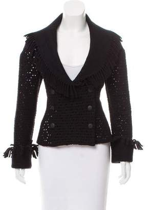 Alaia Structured Wool-Blend Jacket