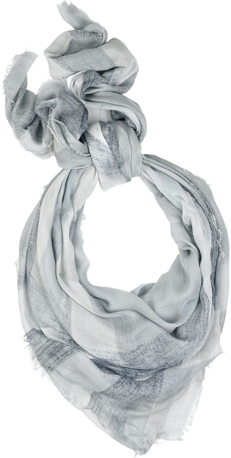 Burberry Sunblushed cashmere-blend checked scarf