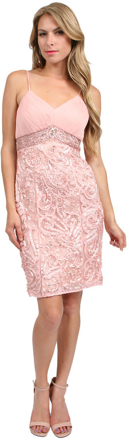 Sue Wong Short Dress in Rose