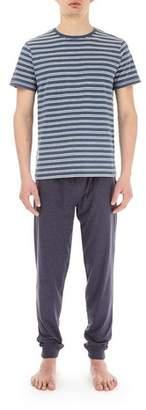 Burton Mens Navy Marl Pyjama Set